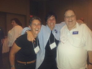 with Olympian champion Paula Parks and Arthur Blankstein (both Conference organisers)